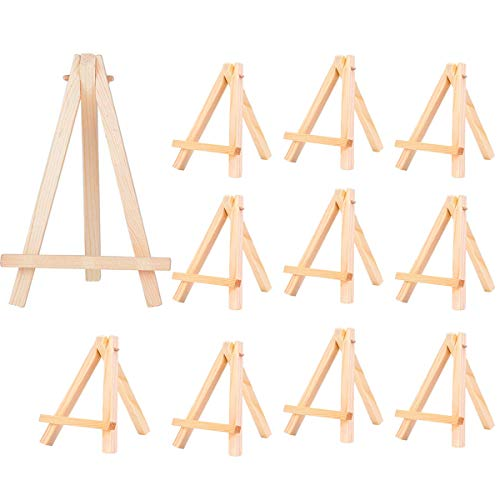 mengger Mini Staffelei 30 Stück Holz Fotohalter Kartenhalter Memohalter Platzkartenhalter Tischkartenhalter Sitzkartenhalter kleine Staffelei Tischdeko für Hochzeit Geburtstag Taufe Party(A)