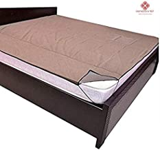 HomeStore-YEP 100% Waterproof Mattress Protector Cover with Elastic Strap for Double Bed (75 x 72inch, Color-Brown)