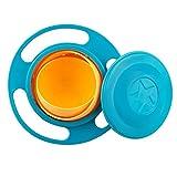 Binnan 360 Grad Drehbar Gyro Bowl,Kleinkind Gyro Schüssel mit Deckel,kein Verschütten