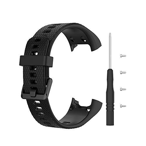 Cinturino sportivo per Garmin Vivosmart HR, cinturino di ricambio in silicone per orologio sportivo con strumenti di rimozione.