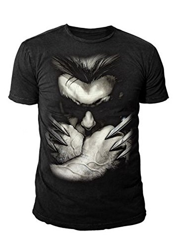 Marvel Comics - Wolverine Herren T-Shirt - Ready with Claws (Schwarz) (S-XL) (S)