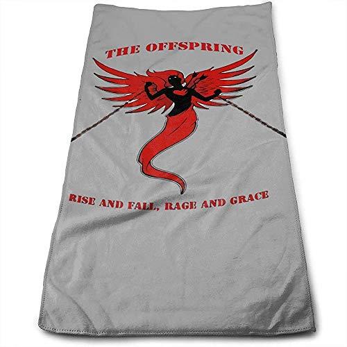 Jesse Tobias The Offspring Rise Fall, Toallas de Mano Rage Grace Toalla de baño Multiusos súper Suave y Fuerte Absorción de Agua 27.5x15.7 Pulgadas
