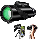 Ellatross Monocular Telescope for Smartphone,Handheld Telescope for Adults with 12X50 HD High Power,for Bird Watching,Wildlife,Concert,Camping,Sporting Game