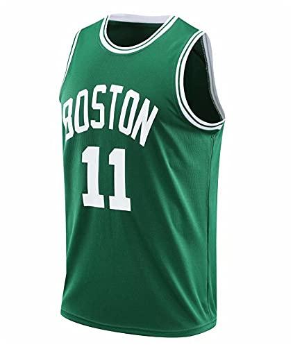 YXST Camiseta de Baloncesto NBA CéLtico # 11 CláSico Transpirable Chaleco de Secado RáPido,Camiseta de Baloncesto de Malla Bordada, RéPlica de Jugador De Baloncesto,3XL