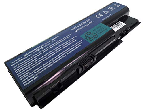 14.8V 5200mAh AS07B42 Laptop Battery for Acer Aspire 7220 7230 7336 7520G 7530G 7535 7540 7720G 7720Z 7730G 7735 7736 7738 8530 8730G 8730ZG 8735 8920G 8942, Acer eMachines E520 E720 G520 G720