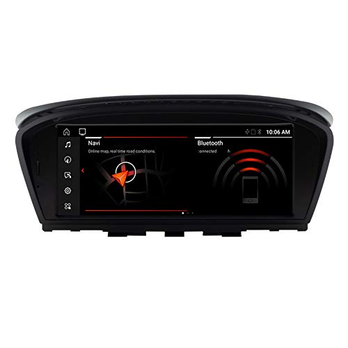 YIJIAREN 8.8 Pulgadas Android 10.0 Radio GPS Navegación para B MW 3 E90E91E92E93 5 E60E61E63E64, IPS HD Coche Estéreo Sat Nav Soporte Bluetooth GPS WiFi FM Controles del Volante carplay
