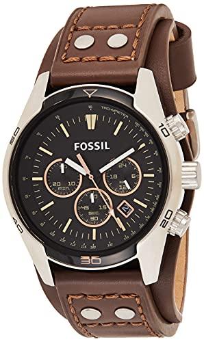 Fossil Orologio Cronografo Quarzo Uomo con Cinturino in Acciaio Inossidabile CH2891