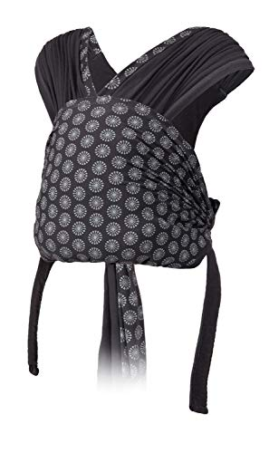 Infantino Together Pull-on Knit Babytrage – Wickeltuch für Neugeborene und ältere Babys – Blickrichtung zum Tragenden hin – Mit leicht zu öffnender Schnalle und zusätzlichem Schutzbezug