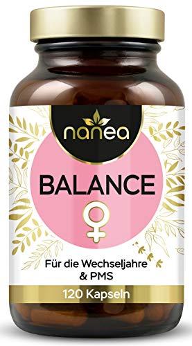 Balance Kapseln | Mit natürlichen Extrakten | Für Frauen | Mönchspfeffer, Yams, Rotklee (Isoflavone) und weitere wertvolle Pflanzenextrakte | vegan und ohne Füllstoffe | Made in Germany