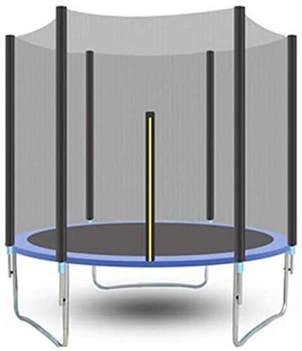 LAMTON Folding Kindertrampolin Bestand das Sicherheitsabdeckung-Test mit Sicherheitsnetz Runder Garten-Trampolin mit Leiter und Cushioned Pole Außen Blau 306 cm Trampolin