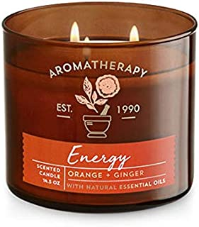 Bath & Body Works Scented Aromatherapy Candlein ENERGY-Orange + Ginger