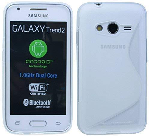 ENERGMiX S-Line TPU SchutzHülle kompatibel mit Samsung Galaxy Trend 2 LITE G318H Silikon Hülle in Transparent