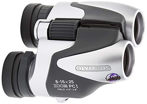 Olympus 8-16 x 25 Zoom PCI - Prismático, Plata y Negro