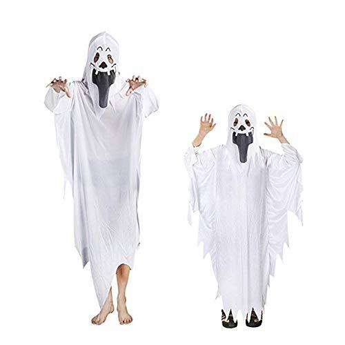 Disfraz De Fantasma De Halloween Blanco - Conjunto De Guantes De Ropa Fantasma - Suministros De Fiesta De Disfraces para Niños Adultos Y Niños