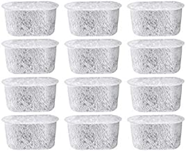 12 NISPIRA Replacement Activated Charcoal Water Filters for Cuisinart Coffee Machines, Compared to Cuisinart DCC-RWF