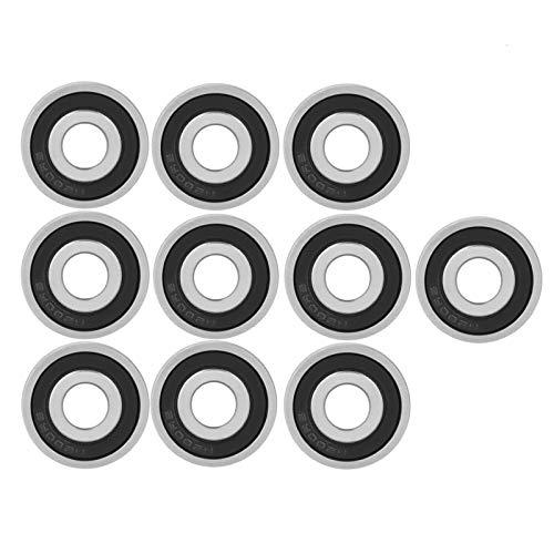 10 Stück 6200-2RS Kugellager, Skateboard Kugellager Speed Bearings,Metall Double Shielded Miniatur Rillenkugellager Reibungsfreie (10 * 30 * 9mm),für Skateboard, Roller, Inline Skates