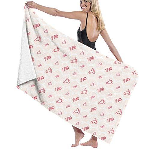 Gebrb Toallas de baño,Toalla de Playa,Manta de Playa Bath Towels Rocket 31'x51' Premium Towel Blanket Super Soft Absorbency