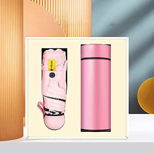 HAOANGZHE USB Ventilator Kreatives Eventgeschenk HandventilatorIsolierflascheSet Geschenkbox Familie und Freunde