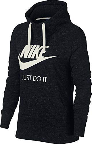 Nike Damen Sportswear Gym Vintage Hoodie, Black/Sail, M