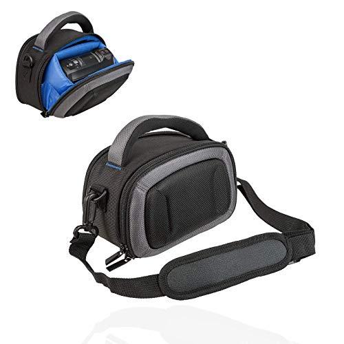 Smart-Planet® Kameratasche für Camcorder – Hardcase für Digitalkamera - passend für Panasonic HC V180 V380 V777 - Sony HDR CX240E CX405 – schwarz blau