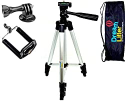 DreamLifter Camera Tripod Phone Telescope -41-inch 360 deg Aluminum Alloy,Lightweight w/Smartphones Holder,Adjustable legs,w/Spirit level w/Carriable Bag- FREE BONUS EBOOK - become a pro photographer