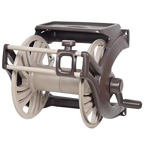 NeverLeak Poly Wall Mount Hose Reel with Manual Hose Guide and Tray - 2415500