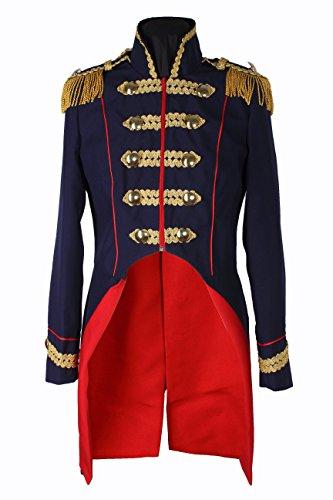 M&G Atelier Damen Soldat Napoleon Jacke Karnevalskostüm Uniform Fasching Gehrock Köln 36-50 Dunkelblau (36)