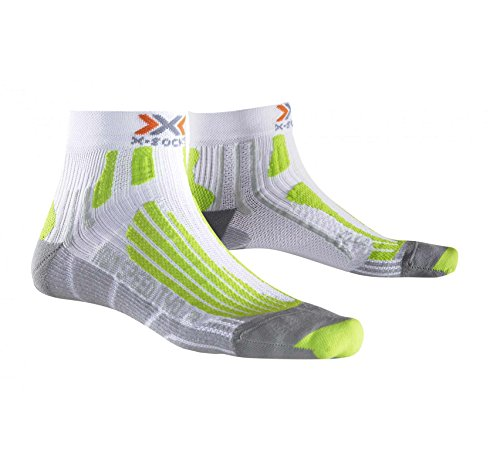 X-Socks Herren Socken RUN SPEED TWO, White/Green Lime, 35/38, X020432