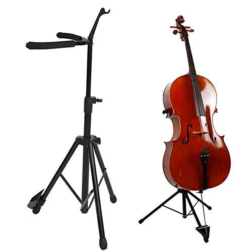 Estante plegable para violonchelo, violín, trípode, altura ajustable, soporte para violonchelo, soporte...