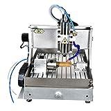 TEN-HIGH 4060 800W CNC Fresadora de fresado de grabado Router, puerto usb con 4th eje y dispositivo de fregadero.