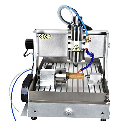 TEN-HIGH 4060 800W CNC Fresadora de fresado de grabado Router, puerto usb con 4th eje...