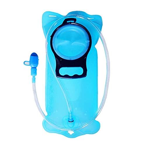 Liadance a Prueba De Agua Bolsa De Almacenamiento De La Vejiga Hidratación De Fugas De Agua del Depósito, Reemplazo De Hidratación, por Escalada Bicicleta Escalada Ciclismo Running (2l Azul)