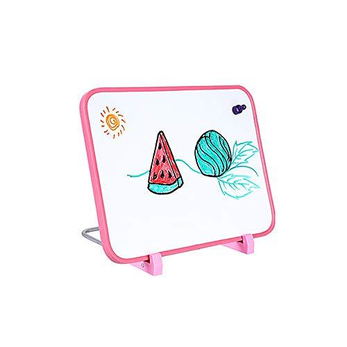 Liuxiaomiao Pizarra Pizarrón Blanco con el Soporte Mini Tablero Portable Blanco de Mesa Desktop Board para la Escuela de Oficina en casa (Color : AS Shown, tamaño : 28x28x35cm)