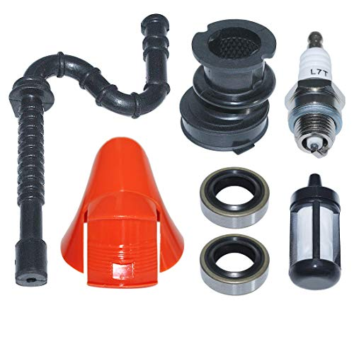 AUMEL Fuel Filter Line Intake Manifold Oil Seal Cover Cap Kit for Stihl TS400 Cut Off Saw 4223 084 7100, 4223 141 2200