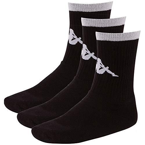 Kappa Authentic Exton 3 Socken, Black, 39-42