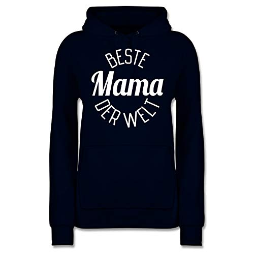 Muttertagsgeschenk - Beste Mama der Welt - Muttertag - M - Navy Blau - Geschenk - JH001F - Damen Hoodie und Kapuzenpullover für Frauen