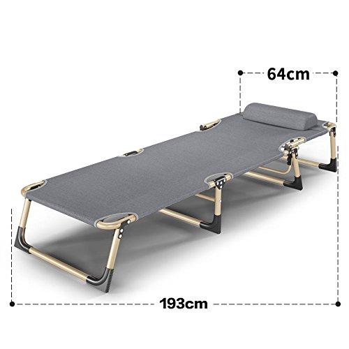 Chaise longue Amazing Lit Pliant de lit de Couchage de Bureau Lit Pliant de Fauteuil inclinable de Bureau (Taille : 64 * 193cm)