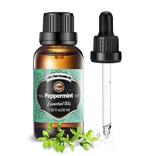 Innoo Tech Huile essentielle de menthe poivrée 30ml, 100% Naturelle & Pure huile essentielle de menthe poivree pour Aromathérapie, Calmer l'esprit et le ventre