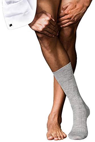 FALKE Herren No. 7 Finest Merino Socken, Light Grey Melange, 43-44