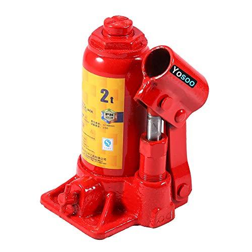 EBTOOLS Crick per auto,2T Martinetto Idraulico Carrello,cric idraulico professionale,crick per auto idraulico,cric sollevatore auto per Attrezzi da Sollevamento, Rossa