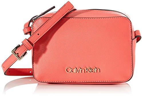 Calvin Klein - Ck Must Camerabag Cav, Bolsos bandolera Mujer, Rojo (Coral), 1x1x1 cm (W x H L)