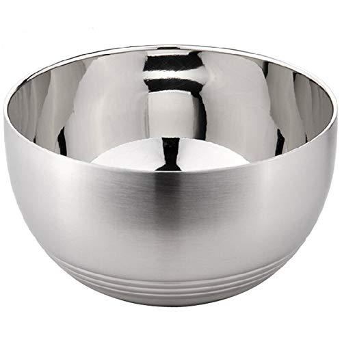 ZH Acier inoxydable/Anti-ébouillantage/résistant à la chaleur/Anti-chute/Soupe/Bol à nouilles instantané Enfant Double couche 13 * 7.2cm, 15 * 8cm, 16 * 8.5cm (taille : 13 * 7.2cm)