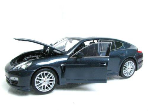 Porsche Panamera S, met.-blaugrau , Modellauto, Fertigmodell, Welly 1:24