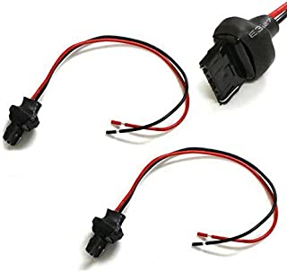 iJDMTOY (2) 7440 T20 Male Adapter Wiring Harness For Car Motorcycle Headlight Tail Lamp Turn Signal Lights Retrofit