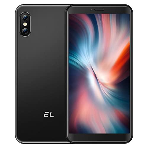 EL 6C Smartphone ohne Vertrag Android 4G Dual-SIM Günstig Handy mit 3 in1 Steckplatz 5,5 Zoll 16GB Speicher 128 GB erweiterbar Mobile Phone 5MP Dreifache Kameras Simlockedfreie Smartphones Face ID