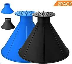 Maxte Car Ice Scraper,Magical Car Windshield Cone Ice Scraper,Ice Removal Tool Ice Scraper for Car (Black+Blue)