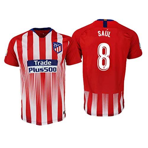 S&K Sports Camiseta Saul Atletico de Madrid Rojo,Camiseta Saul 2019/20 para Hombre & Niño