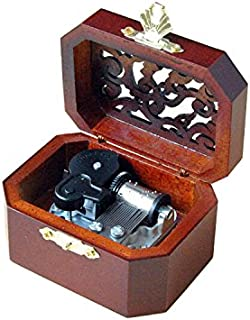 WESTONETEK Vintage Wood Carved Mechanism Musical Box Wind Up Music Box Gift for Christmas/Birthday/Valentine`s Day, Melody...