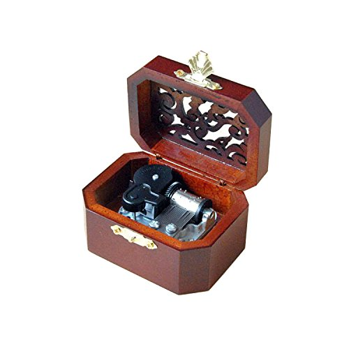 WESTONETEK Vintage Wood Carved Mechanism Musical Box Wind Up Music Box Gift for Christmas/Birthday/Valentine's Day, Melody for Elise