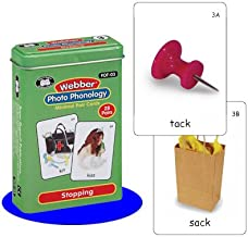 Super Duper Publications Webber Photo Phonology Stopping Minimal Pair Card Deck Educational Learning Resource for Children